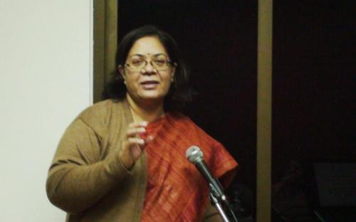 Smt. Lalitha Kumaramangalam, Hon'ble Chairperson, NCW giving the welcome address