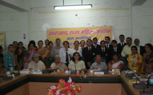 Dr. Ms Charu WaliKhanna, Member NCW with participants of Workshop on Domestic Violence. Organised by Uttarakhand State Commission for Women at Dehradun on 22.09.2011