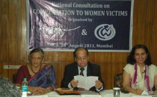 (From left to Right) Adv. Flavia Egnes, Justice A K Ganguly and Dr. Charu WaliKhanna