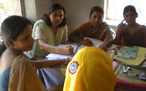 On 04.10.2011Member NCW, Dr Charu WaliKhanna alongwith NGO staff and police, counseling victim Rekha Rani (name changed). The counseling aided the process of her self development, increased her confidence and understanding of herself