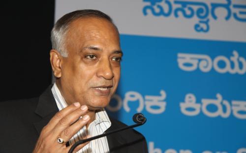 Sh S.Raman, CMD, Canara Bank delivering the Key Note address