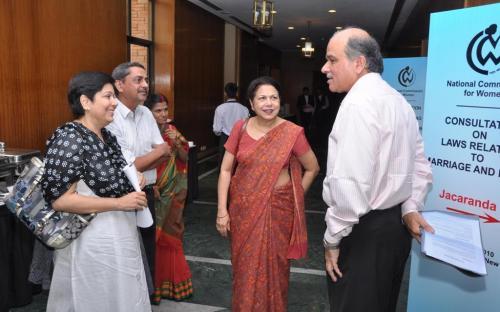 (L to R) Ms. Yasmeen Abrar, Member, NCW, Mr. Yogesh Mehta, Law Officer, NCW, Ms. Kareena B. Thengamam, PRO, NCW and Ms. Zohra Chatterji, Member Secretary, NCW