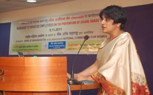 Ms. Vaishali Bhagwat. Advocate addressing participants