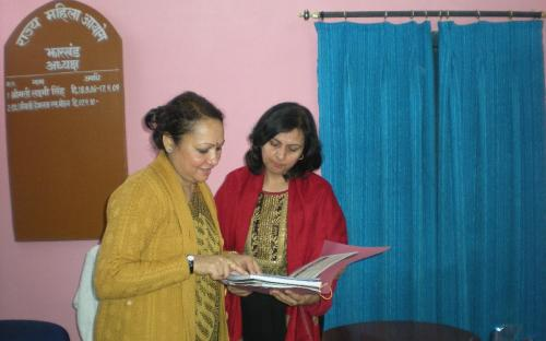 Dr Charu WaliKhanna, Member NCW with Smt. Hemlatha Mohan, Chairperson State Commission for Women, Jharkhand