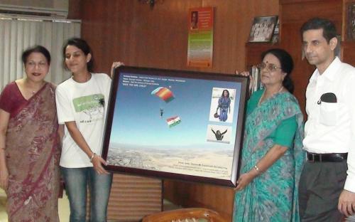 Ms. Archana Sardana with NCW Chairperson Dr. Girija Vyas