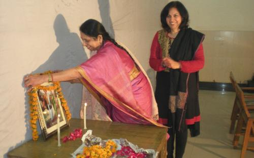 """Dr. Charu WaliKhanna, Member, NCW delivered lecture on """"Contribution of SAVITRI BAI PHULE in the upliftment of women in India"""" at Rajdhani College, New Delh"""