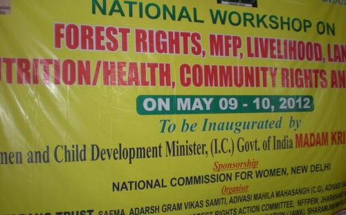 """Member, Charu WaliKhanna was Chief Guest at Conference """"National Level Consultation on FRA, MFP, Women, Livelihood and Community Rights"""