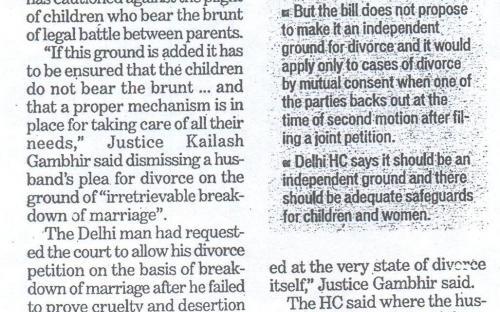 HC Warning on change in marriage Age. (Hindustan Times, Delhi)