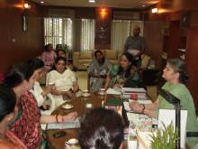 Some volunteers from Bhartiya Janta Party Mahila Morcha in leadership of Smt. Smriti Irani visited the Commission
