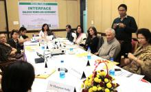 "Dr. Charu WaliKhanna Member, NCW Distinguished Speaker at Round Table Conference on the ""Interface: Open Dialogue-Women and Government"""