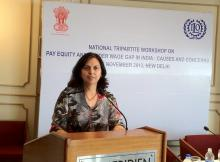 Dr. Charu WaliKhanna Member, NCW was Chief Guest at National Tripartite Workshop on Pay Equity and Gender Wage Gap in India: Causes and Concerns held on 26-27 November, 2012
