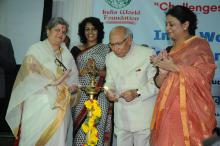 """Ms. Mamta Sharma, Hon'ble Chairperson, NCW and Ms. Shamina Shafiq, Member, NCW attended a National Conference-Panel Discussion on """"Challenges Before Minority Women in India"""""""