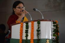 Ms Hemlata Kheria, Member, NCW chaired a programme organised by Lal Bahadur Shastri Bal Vatika School at Ghaziabad on the occasion of International Women's Day