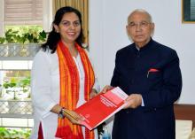 Dr. Charu WaliKhanna, Member, NCW, meets Hon'ble Governor, Karnataka