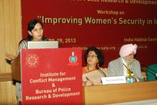 "Dr. Charu WaliKhanna, Member, NCW attended a workshop on ""Improving Women's Security in India"" organized by Institute of Conflict Management & Bureau of Police Research & Development on 28th October"