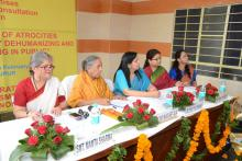 "Hon'ble Chairperson organized a two-day National Consultation on 27th and 28th of February, 2014 at Jaipur, Rajasthan on ""Prohibition of Atrocities against Women by Dehumanizing and Stigmatizing them in public"""