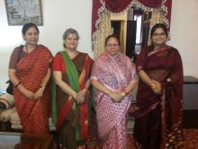 Smt. Mamta Sharma, Chairperson, NCW and Ms. Hemlata Kheria, Member met Ms. Urmila Singh, Hon'ble Governor of Himachal Pradesh and discussed about women issues in Himachal Pradesh