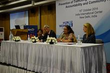 Hon'ble Chairperson speaking at the consultation on Prevention of Trafficking in Women and Girls: State Accountability and Community Action