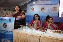 Smt. Lalitha Kumaramangalam, Hon'ble Chairperson, NCW addressing the at the inaugural ceremony