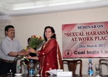 Dr Charu WaliKhanna, Member , NCW was Chief Guest at Workshop organized by the Human Resource Development Department of the state-owned coal mining Maharatna company, Coal India Limited (CIL)