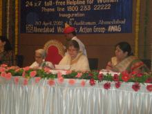 Her Excellency, Governor of Gujarat Dr. Shrimati Kamalaji and Ms.Mamta Sharma, Chairperson, National Commission for Women launch Toll Free Helpline